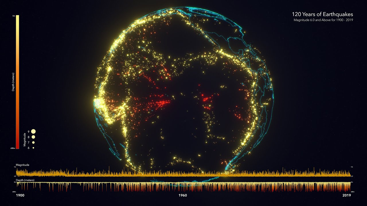 Earthquake is a natural phenomenon that can cause disasters. Earthquake visualization is a way to know the movement of Earth's plates.